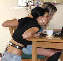 Jessy and Regina – after breakfast