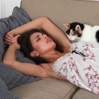 Yasmine was belted in her sleep!