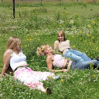 Belted for Charity – in the meadow