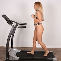 Nikki – plugged on the treadmill