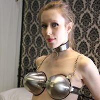 Cobie – huge chastity bra