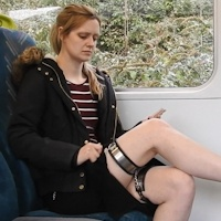 Sam - thigh bands on the train