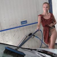 Alena – belted at the carwash