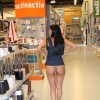 Ruth belted in public – DIY store