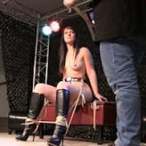 Yvette Costeau – public bondage show